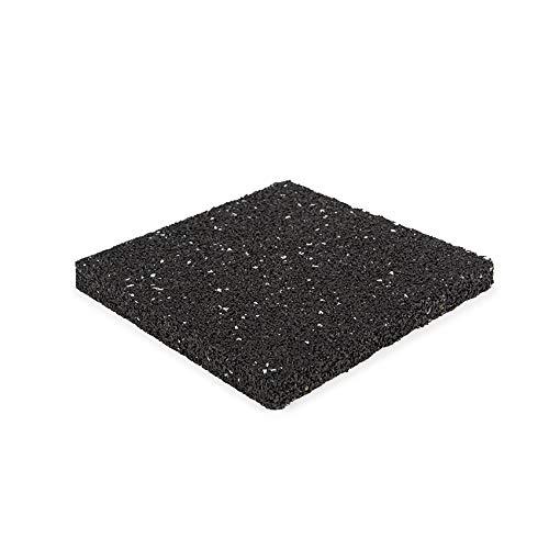 Terrassenpad 200x200x15mm (set 50 stück) | Schwarz gesprenkelt | Terrassenpads | aus Gummigranulat | Gummigranulatmatten