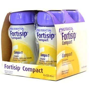 Fortisip Compact 4x125ml (ALL FLAVOURS)x2 (2 boxes - 8x125ml) (Banana)