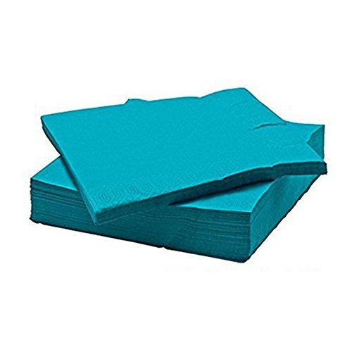 IKEA FANTASTISK - Servilletas de papel, color turquesa