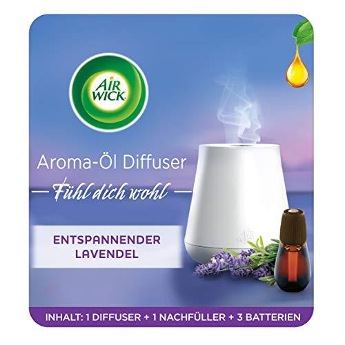 Air Wick Aroma-Öl Diffuser – Starter Set mit Diffuser und Duft-Flakon – Batteriebetrieben – Duft: Entspannender Lavendel – 1 x 20 ml ätherisches Öl + Diffuser