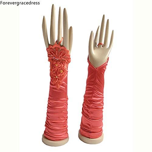 Fingerless Brautspitze Handschuhe Kurzblumen Handschuhe for Frauen-Abend-Kleid-Handschuhe for Partei-Abschluss Opera langlebig