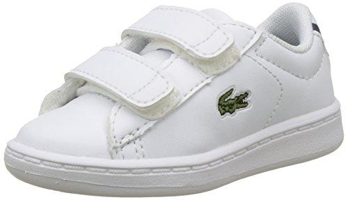 Lacoste Sport Carnaby EVO BL 1 SPI, Zapatillas para Niños, Blanco (wht/nvy), 24.5 EU (7.5 UK)
