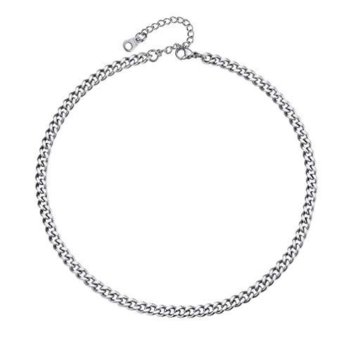 PROSTEEL Stainless Steel Chain 14 inch Necklace for Women Thick Steel Choker Men
