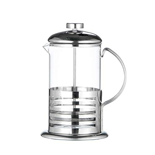 ekspres do kawy mini Ręczna kawa espresso Maker garnek ze stali nierdzewnej ze szkła ze szkła ze stali nierdzewnej francuski herbata herbata filtr prasy Biuro, restauracja (Color : 1000ML)