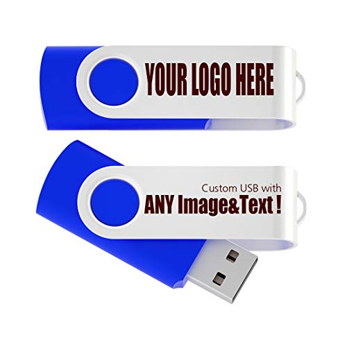 MEINAMI Customized USB Flash Drive in Box Thumb Drive Personalized Memory Stick 8GB 50 Pack