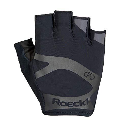 Roeckl Guantes de Ciclismo de Verano Ibros Dedo Corto Negro, tamaño:7