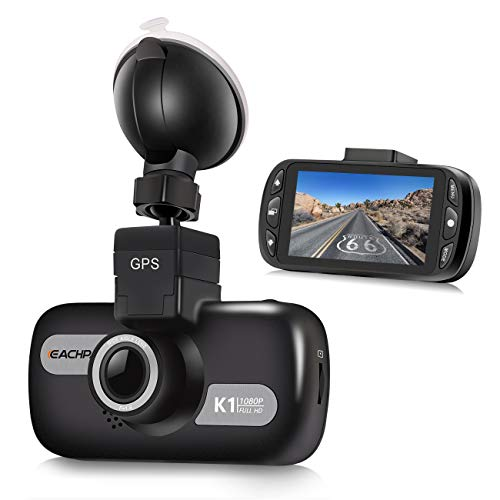 GPS Dash Cam for Cars, EACHPAI K1 1080P Dash Camera for Taxi,Ridershare Drivers and Trucks, 3'' Screen Car Camera Front with Wide Angle ,Sony Sensor,Super Capacity, WDR, G-Sensor,Loop Recording