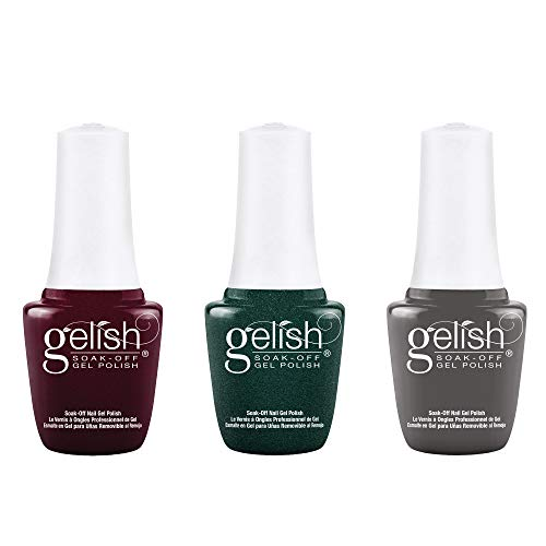 Gelish Mini Disney Villains Collection 9 mL Soak Off Gel Nail Polish Set, 3 Color Pack with You're in My World Now, Mistress of Mayhem, and Smoke The Competition