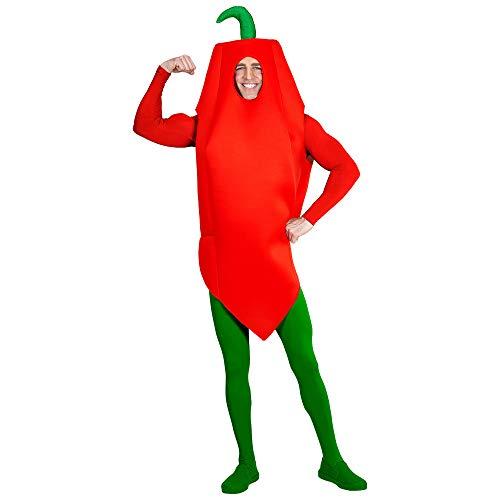 WIDMANN Disfraz 65735Peperoni, unisex?Adultos, Rojo/Verde , color/modelo surtido