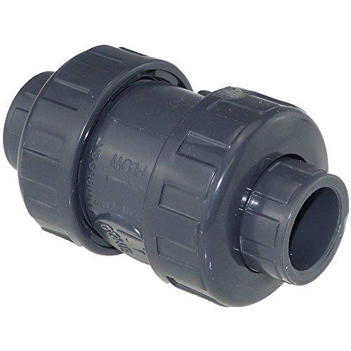 PVC válvula antirretorno klebmuffe (16 hasta 110mm) - PVC, 50 mm