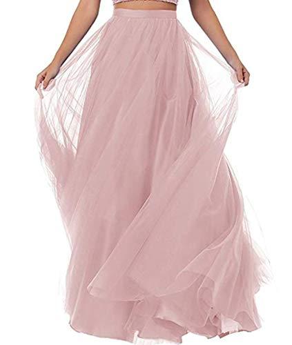 Special Bridal Gonna da Donna a Pieghe Lunghe in Tulle con Vita a Linea per Gonna da...