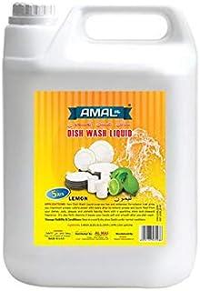 DISH WASH LIQUID LEMON AMAL Plus 5 Ltr ( White Bottle)