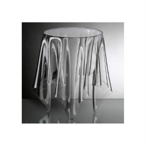 Essey Illusion Bijzettafel, handgemaakte salontafel, design bijzettafel, acryl, hoogte 44 cm, Ø 31 cm, transparant