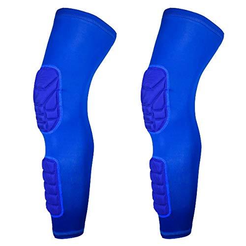 Airlucky kniebeschermer, lange basketbalkorf met mouwen op het been van kalfsleer, ondersteunende bescherming voor ski/snowboard, sport, voetbal