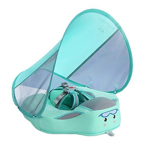 Flotador para bebé, con baldaquino desmontable, flotador para niños pequeños, juguete para el agua
