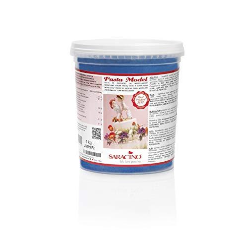Saracino Pasta Di Zucchero Model Azzurra Per Modellaggio Da 1 Kg Senza Glutine Made In Italy