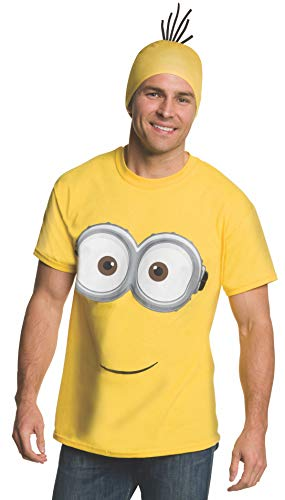 Rubie's Men's Minion Costume T-Shirt, Yellow, Large