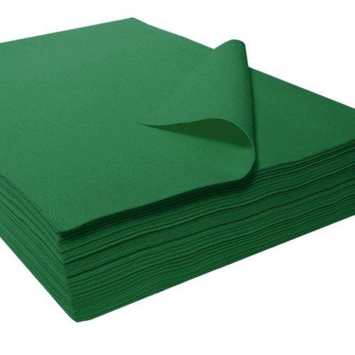 Fieltro sintético, cortes , verde oscuro, apr. 22 x 30 cm - 25 unidades