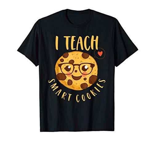 Biscotto Dell'insegnante Divertente I Teach Smart Cookies Maglietta