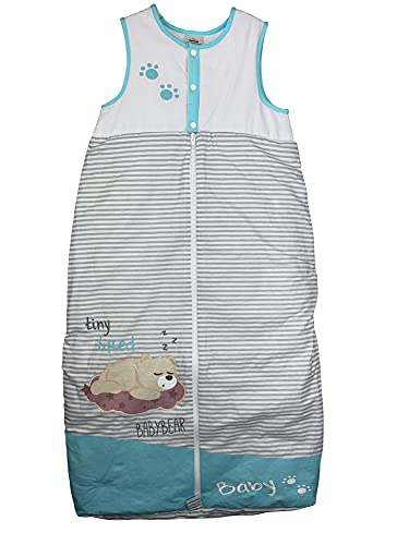 Twins Unisex Baby Schlafsack geringelt mit Bärchen