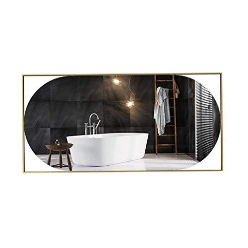 Espejo de pared para decoración del hogar Espejo de baño de metal, grande de pared completa de longitud espejo de la alta definición Impermeable espejo de la belleza nórdica simplicidad Espejo decorat