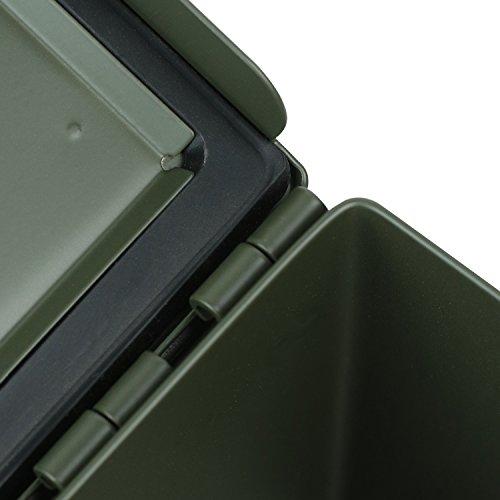 HMF 70011 Munitionskoffer, US Ammo Box, Metallkiste, 30 x 19 x 15,5 cm, grün - 5