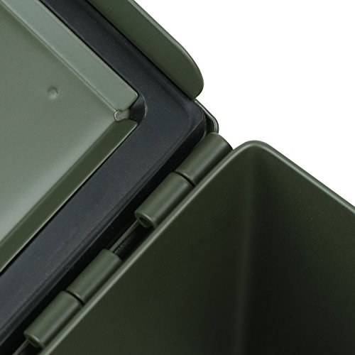 HMF 70011 Munitionskoffer, US Ammo Box, Metallkiste, 30 x 19 x 15,5 cm, grün - 3