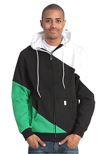 Light Bar zippé à Capuche Homme M Kellly Green-Black-White