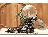 MCWJ Bola de Cristal con Esfera de Calavera mágica, inducción electrostática, Piedra de Cristal Transparente con Base, Torre de observación, decoración del hogar-A-Gran tamaño