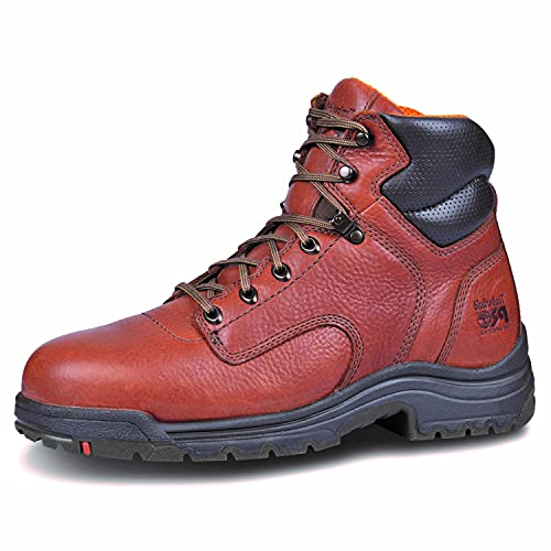 Timberland PRO Men's 6 inch Titan Work Boots with Titan Safety Toe - Coffee 11.5 - Regular
