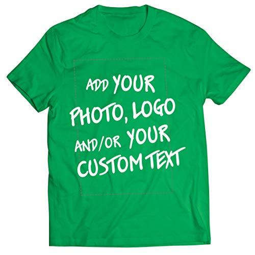lepni.me Camisetas Hombre Regalo Personalizado, Agregar Logotipo de la Compañía, Diseño Propio o Foto (Large Verde Multicolor)