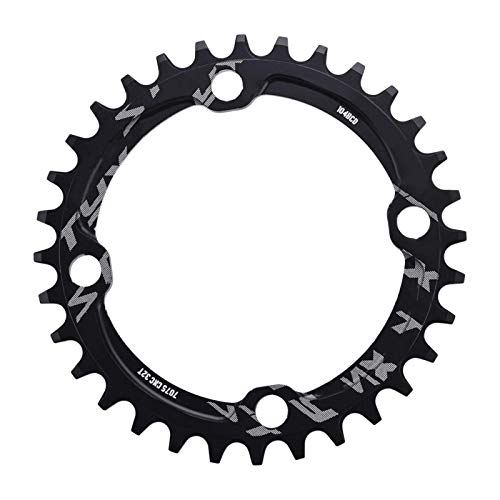 Yosoo Health Gear Bike Chain Ring, 104 BCD MTB Mountain Bike Bicycle Narrow Wide Chainring Round Shape Single Chain Ring 32T 34T 36T 38T(36T)