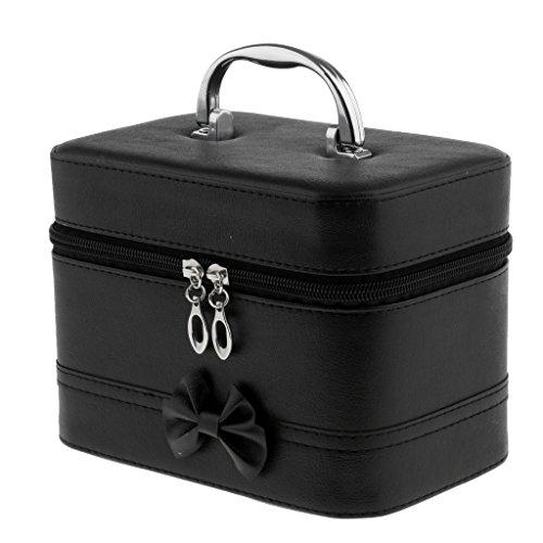 Homyl Coffret de Rangement pour les Outils Nail Art Beauty Case Boîte Cosmétique Sac de Maquillage Professionnel - 20x12.5x14 cm - Noir