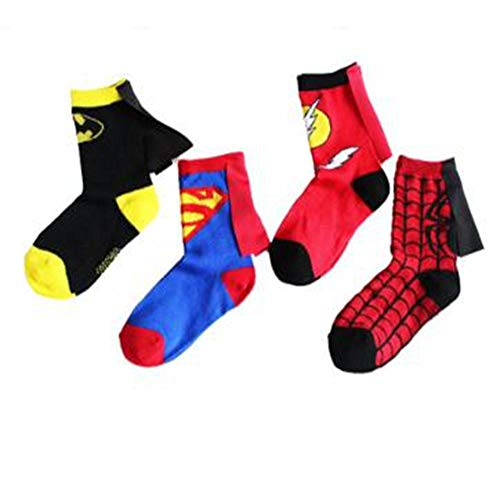 WYLLA Socke, 4 Paar Kinder Cartoon Baumwollsocken Halloween Festival Party Cosplay Zubehör Bühne Sport Socke 4-6 Jahre
