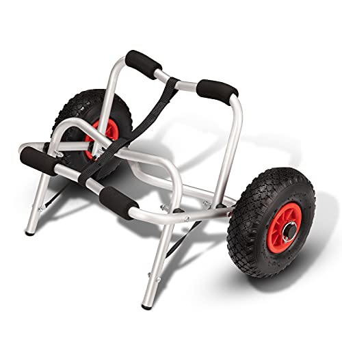 FIERYRED Kayak Cart Canoe Carrier Trolley - Collapsible Boat Carrier Wheel Cart 200LBS Capacity