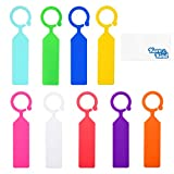Plastic Garden Hanging Plant Tags 100pcs 11x2.5cm - Kare & Kind 100x Ring Tag Hanging Plant Labels - Colorful Plastic Plant Hook and Tree Tags
