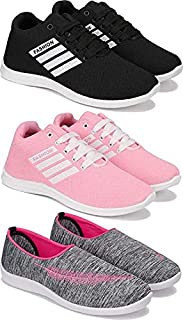 Shoefly Women's (5046-5047-5054) Multicolor Casual Sports Running (Set of 3 Pair)