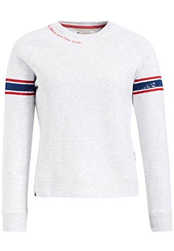 khujo Damen Sweatshirt DARINKA with Embro mit Raglanärmeln