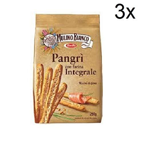 3x Mulino bianco Pangrì Integrali 250g vollkorn italien brotstick brot grissini