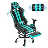 Ferghana Gaming Chair,Large Size Ergonomic Racing Style PC Game Computer Chair with Headrest Lumbar Support Footrest Adjustable Recliner PU Leather Video Computer Chair(Red)