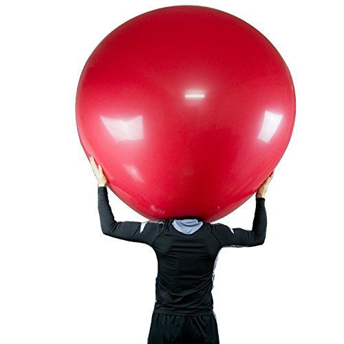 Lioong 6ft/72 Inch Latex Climb in Balloon(180cm), Red