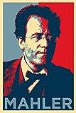 Gustav Mahler Kunstdruck (Obama Hope Parodie) Hochglanz