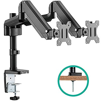 EleTab Dual Monitor Mount Stand Full Motion Swivel Fits for 2 Computer Screens