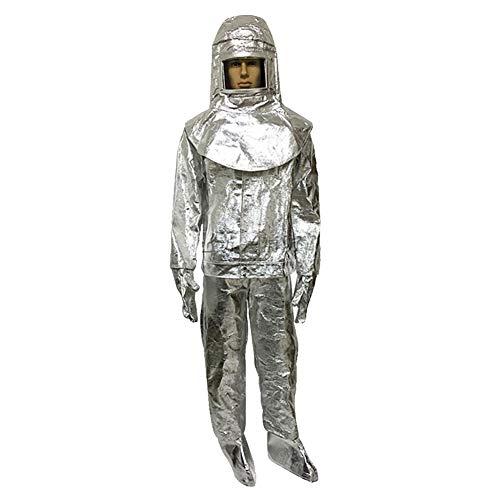Heatile Aluminiumfolie Arbeitskleidung Schwer entflammbar hochtemperaturbeständig Korrosionsschutz Für Feuerfelder mit starker Strahlungswärme (500℃/1000℃),500℃