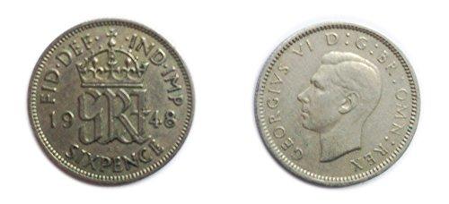 Münzen für Sammler - Circulated Briten 1948 George VI Sixpence/Six Pence 6p Coin/Großbritannien