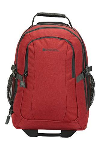 Mountain Warehouse Voyager 35-l-Rucksack mit Rädern - versteckte Riemen, Laptop-kompatibel, lässige und multifunktionale Reisetasche - Für Camping, tägliches Pendeln, Frühling Rot Einheitsgröße