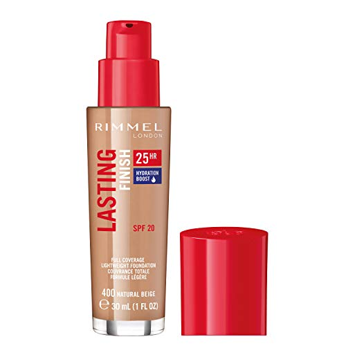 Rimmel London Lasting Finish Foundation 25H, Base de Maquillaje Tono 400-30ml