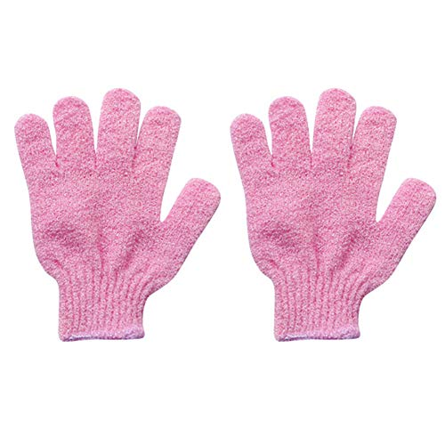 memorytime Shower Bath Gloves Exfoliating Skin Wash Spa Massage Body Scrubber Bathroom Gadgets Random Color