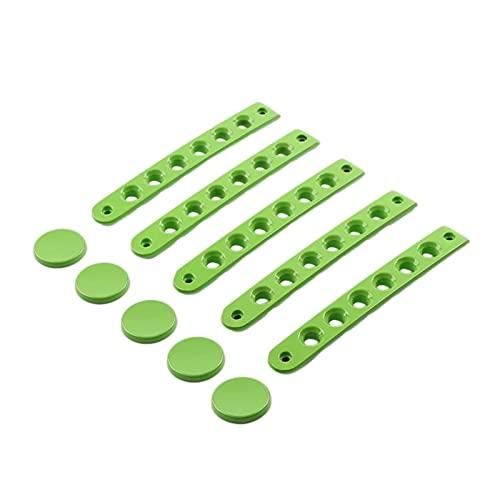 HMEILI 5 piezas de accesorios para Jeep Wrangler JK 07-17 (nombre del color: verde)