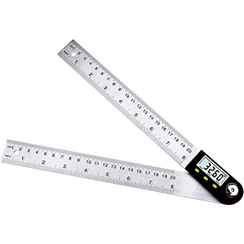 J&T 測定器 デジタル角度計 分度器 角度定規 360度 20cm ステンレス鋼 JT-29-010